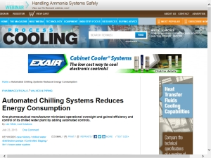 Automated Chilling Systems Reduces Energy Consumption