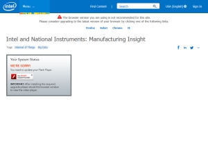 Intel and National Instruments: Manufacturing Insight