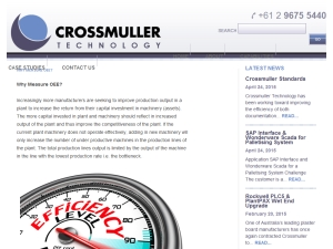 From the Crossmuller Archives - Why Measure OEE?