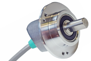 POSITAL  Incremental  Encoders  with  Space-Saving  Angled  Cable  Entry