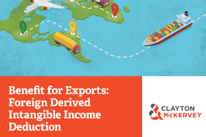 Benefit for Exports: Foreign Derived Intangible Income Deduction