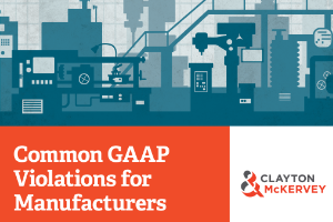 Five most common GAAP Violations