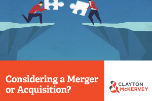 Considering a Merger or Acquisition?