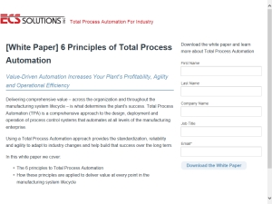 [White Paper] 6 Principles of Total Process Automation