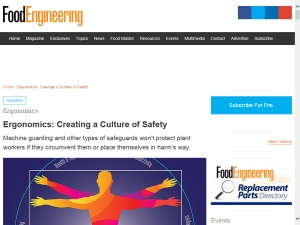[Article] Ergonomics: Creating a Culture of Safety