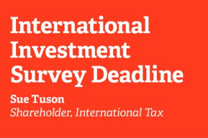 International Investment Filing Date Approaches: BE-10 US Investment Abroad Survey