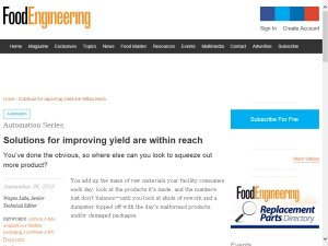 Solutions for improving yield are within reach