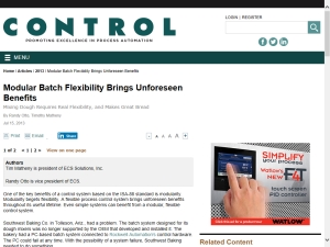 Modular Batch Flexibility Brings Unforeseen Benefits
