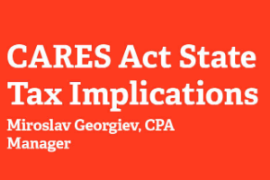 CARES Act State Tax Implications