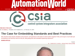 The Case for Embedding Standards and Best Practices